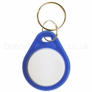 Blue/white key fobs (10 PK)